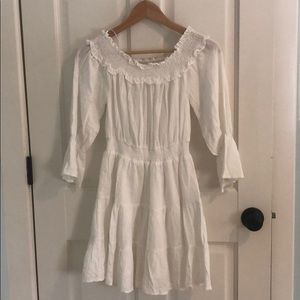 White off the should dress